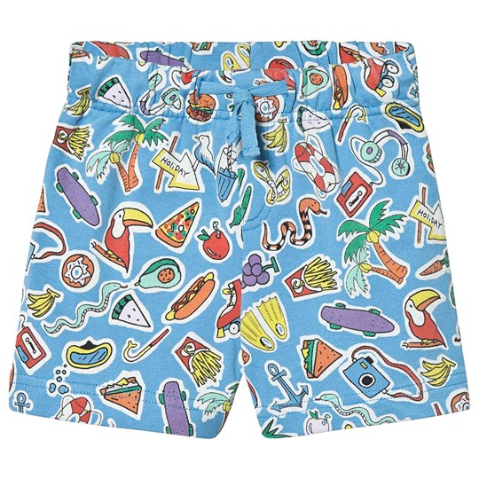 Stella McCartney Kids Blue Food All Over Print Shorts 4861 - Toys&Food Aop Blue