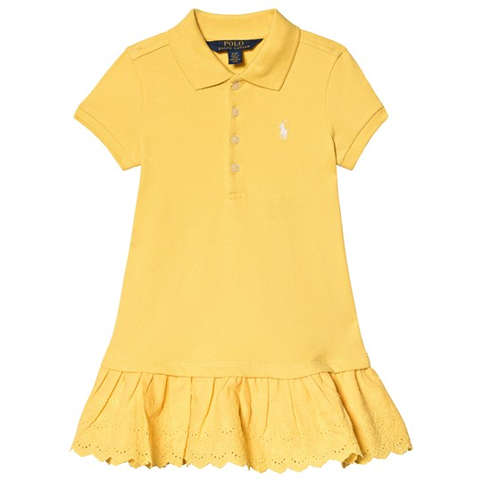 Ralph Lauren Yellow Polo Dress with Eyelet Detail 001