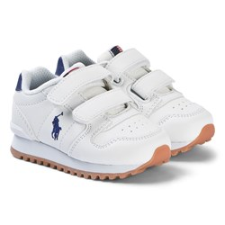 Ralph Lauren White Oryion EZ Leather Velcro Trainers