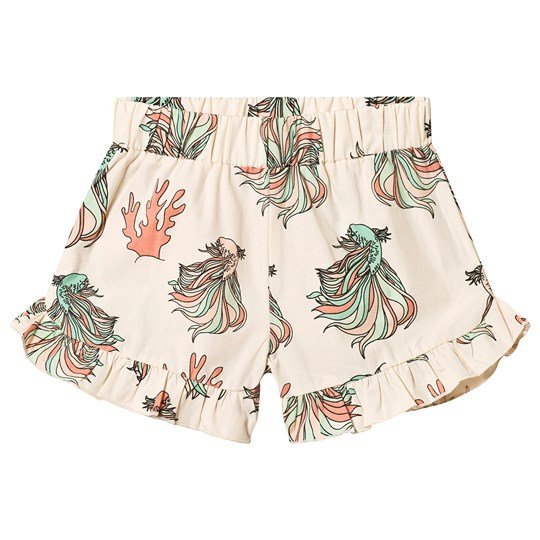 Tao&friends Fish Ruffled Shorts Beige Beige