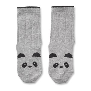 Image of Liewood 2-Pack Silas Socks Panda/Grey Melange 17-18 (6-9 mdr) (3133716959)