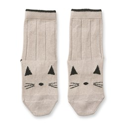 Liewood Silas Cotton Socks 2 Pack Cat Sweet Rose