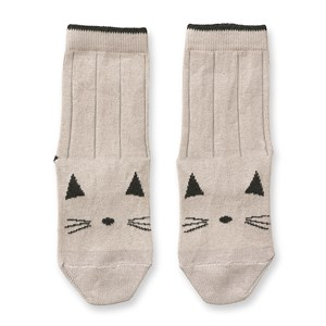 Image of Liewood 2-Pack Silas Socks Cat/Sweet Rose 17-18 (6-9 mdr) (3133716965)