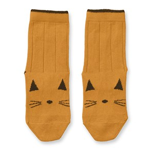 Image of Liewood 2-Pack Silas Socks Cat/Mustard 17-18 (6-9 mdr) (3133716971)