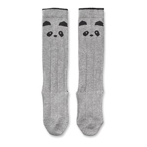Image of Liewood 2-Pack Sofia Knee Socks Panda/Grey Melange 17-18 (6-9 mdr) (3133716997)