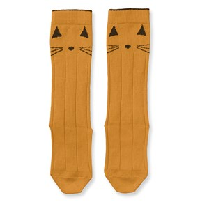 Image of Liewood 2-Pack Sofia Knee Socks Cat/Mustard 17-18 (6-9 mdr) (3133717011)