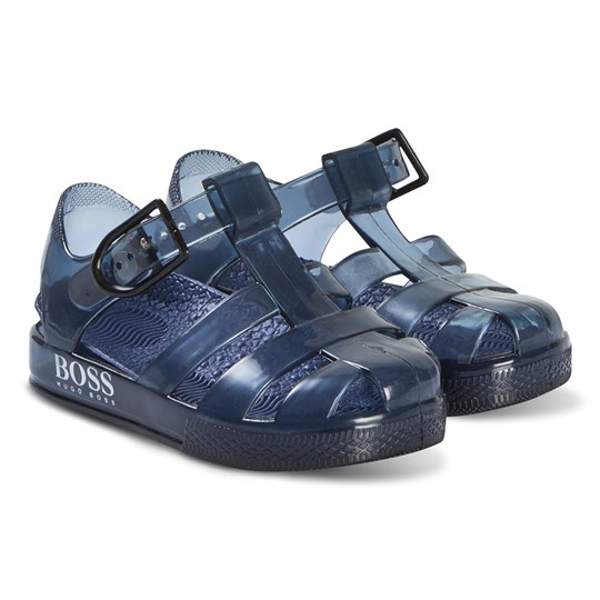 BOSS Navy Branded Jelly Sandals 849