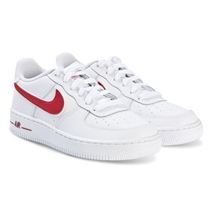 Image of NIKE Air Force Sneakers White and Gym Red 39.5 (UK 6.5) (3134510095)