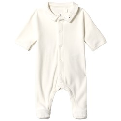 Petit Bateau Footed Baby Body Marshmallow White