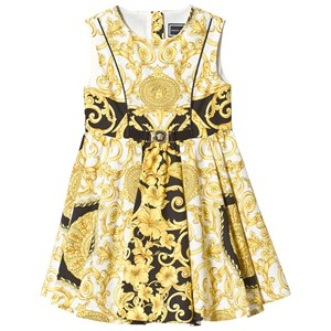 Image of Versace Baroque Dress with Belt Gold and White 4 years (3138209457)