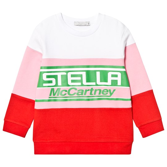 Stella McCartney Kids Pink Colour Block Stella Print Sweatshirt 5960 - Rasberry