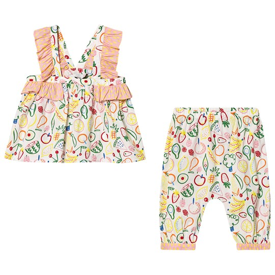 Stella McCartney Kids Prink Fruit All Over Print Top and Trousers Set 9083 - Aop Fruits On White