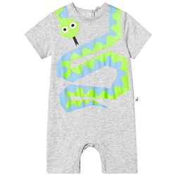 Stella McCartney Kids Grey Snake Print Romper