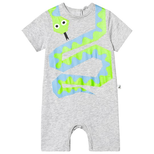 Stella McCartney Kids Grey Snake Print Romper 1461 - Thunder