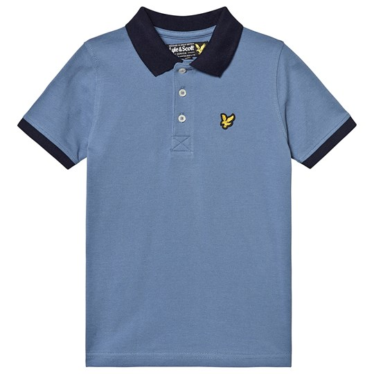 Lyle & Scott Moonlight Blue Ringer Polo Shirt 155