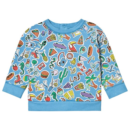 Stella McCartney Kids Blue Food All Over Print Sweashirt 4861 - Toys & Food Aop Blue