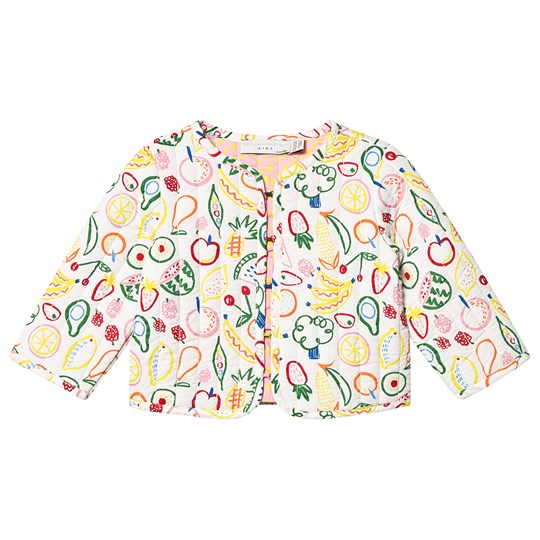 Stella McCartney Kids White Fruit All Over Print Quilted Jacket 9083 - Aop Fruits On White