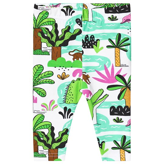 Raspberry Republic Amazing Amazonia Leggings White Green