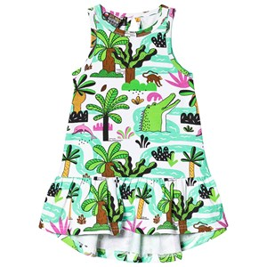 Image of Raspberry Republic Amazing Amazonia Dress White 104-110cm (3-5 years) (3135225469)