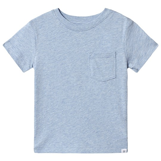 GAP Pocket T-shirt Blue Heather Lt Blue Heather B8830