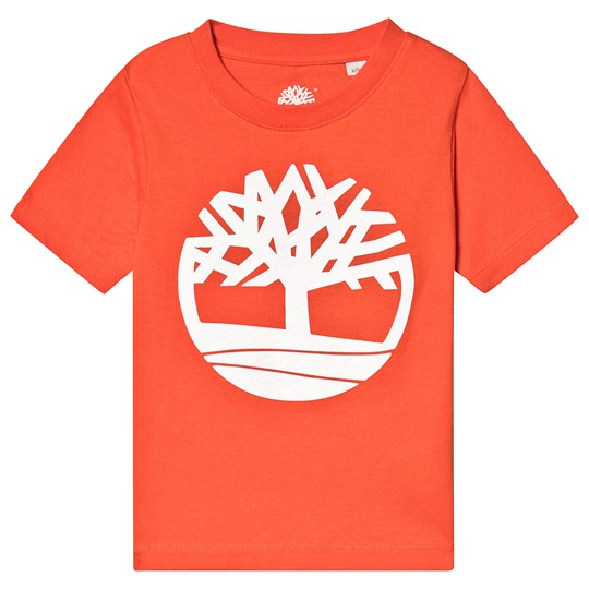 Timberland Orange Timberland Tree Logo Tee 42B