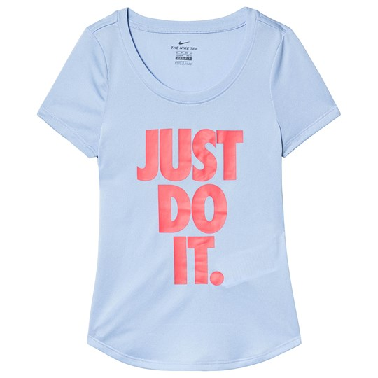 NIKE Blue Nike Dry Just Do It Tee 450