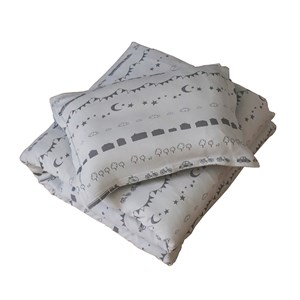 Image of Littleheart Little City Bedding Set for Stroller/Basket Soft Grey (3135226963)