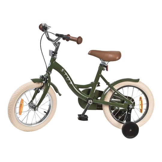 "STOY Bicycle 14"" Vintage Army Green"