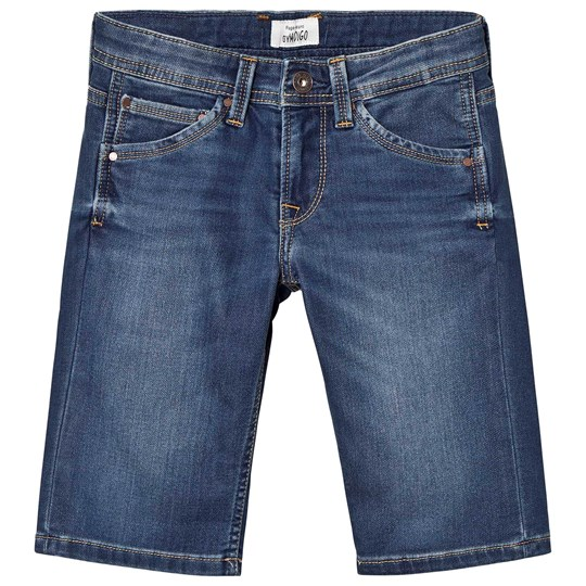 Pepe Jeans Mid Wash Gymdigo Cashed Denim Shorts GK9