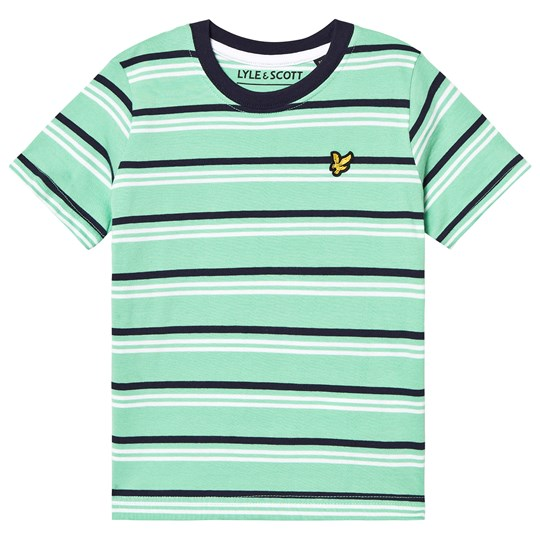 Lyle & Scott Green Stripe T-shirt 499