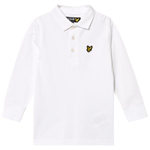 Image of Lyle & Scott White Classic Long Sleeve Polo Shirt 5-6 years (1260032)