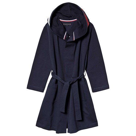 Tommy Hilfiger Navy Red and White Bath Robe 416