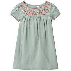 GAP Spop Emb Dress Sage