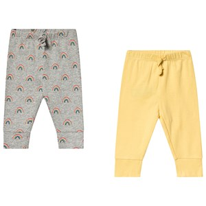 Image of GAP 2-Pack Yellow/Light Heather Grey 0-3 mdr (3137428873)