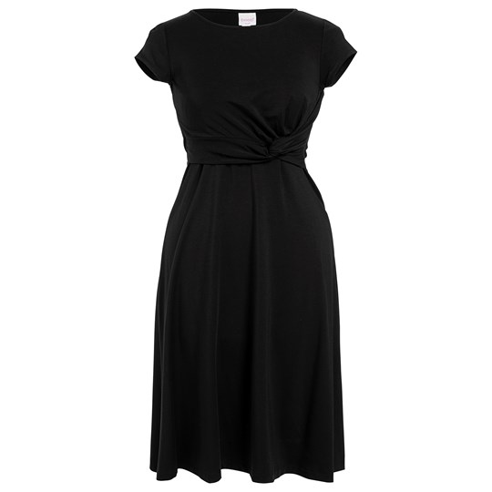 Boob Twist Dress W Cap Sl Black Black