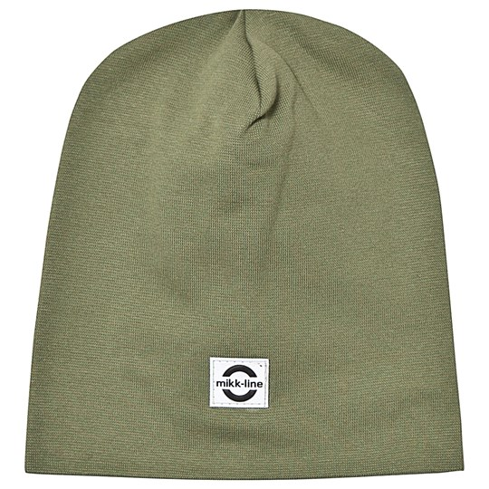 Mikk-Line Cotton Hat Solid Olive Olive
