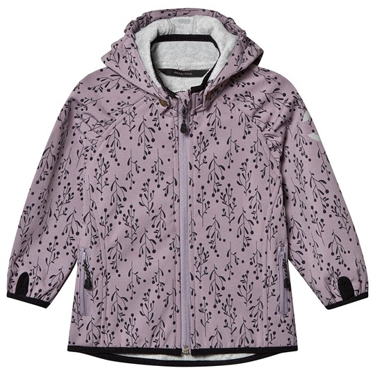Mikk-Line Soft Shell AOP Girls Jacket Dusty Quail Dusty Quail