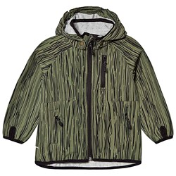 Mikk-Line Soft Shell AOP Boys Jacket Olive