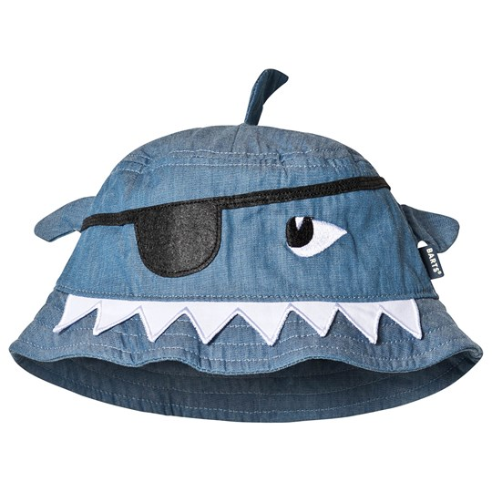 Barts Blue Pirate Monster Face Honduras Sun Hat 38 Denim