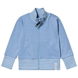 Image of Geggamoja Zip Sweater Blue 110/116 cm (3138210463)