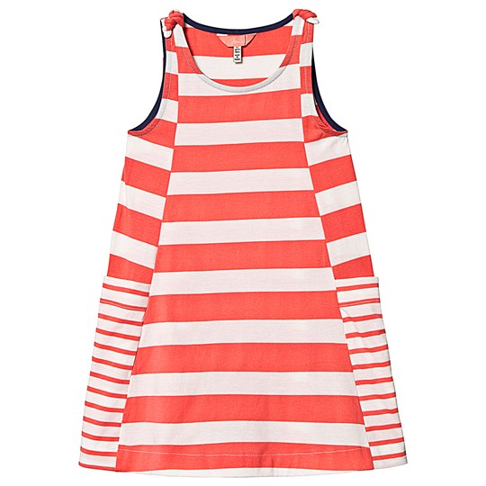 Tom Joule Pink and White Stripe Jersey Dress Pink Cream Stripe