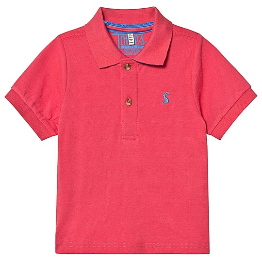 Tom Joule Pink and Blue Stripe Collar Polo Dark Dahlia Pink