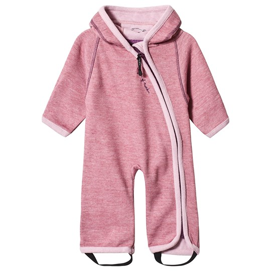Isbjörn Of Sweden Wooly Baby Jumppsuit Dusty Pink Dusty Pink