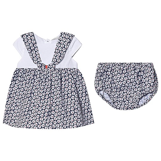 Dr Kid Navy and White Floral Print Dress with Bloomers 295