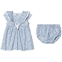 99e5568309ff Dr Kid Blue Floral Print Dress with Bloomers 102