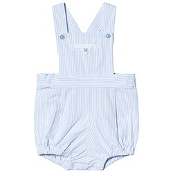 Dr Kid Blue and White Stripe Dungaree Romper