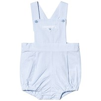 9ea4fc370fd2 Dr Kid Blue and White Stripe Dungaree Romper 080