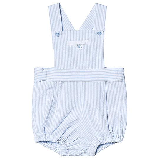 Dr Kid Blue and White Stripe Dungaree Romper 080