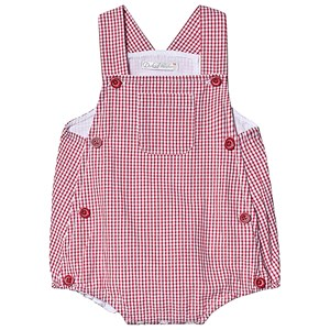 Image of Dr Kid Gingham Button Overalls Red 1 month (1249462)