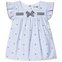 baf89e31e50e Dr Kid Blue and White Stripe Heart Print with Bow Top 000
